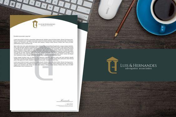 Criação de papel timbrado e logotipo para escritório de advocacia.